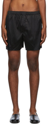 Ludovic de Saint Sernin Black Silk Boxer Shorts
