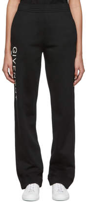 Givenchy Black Vertical Logo Jogger Lounge Pants