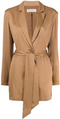 Emilio Pucci Belted Long-Length Jacket