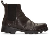 Christian Peau Black CP Side Gore Stair Chelsea Boots