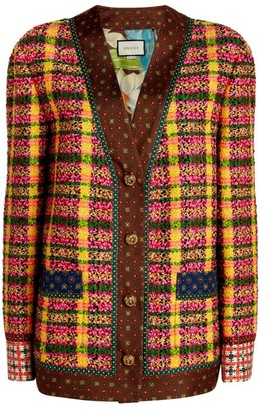 Gucci Check Tweed Jacket