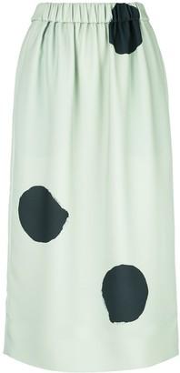 Tibi Polka Dot Pull-On Skirt