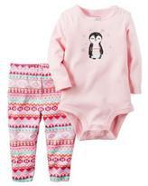 Carter's Girls' 'Penguin' 2-Piece Bodysuit & Pant Set