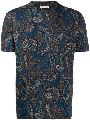 Etro paisley print round neck T-shirt