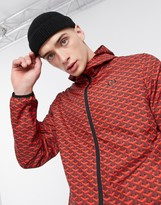 Criminal Damage nylon tracksuit jacket in red pattern