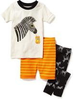 Old Navy 3-Piece Zebra-Graphic Sleep Set for Toddler & Baby