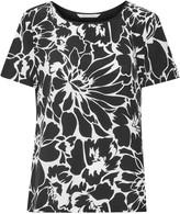 Diane von Furstenberg Ora floral-print silk crepe de chine and stretch-jersey top