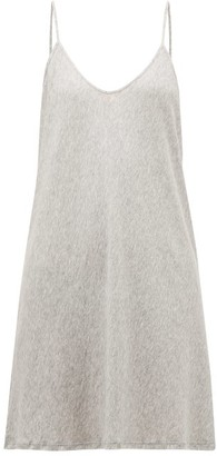 Skin - Scoop-neck Pima-cotton Slip Dress - Womens - Grey