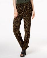 MICHAEL Michael Kors Leopard-Print Soft Pants, a Macy's Exclusive Style