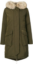 Woolrich Military parka coat - women - Feather Down/Polyamide/Polyester/Racoon Fur - S