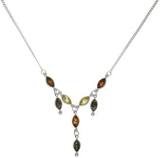 Nature d'Ambre 3170585 Women's Amber Necklace Silver 925/1000 17 cm