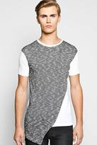 Boohoo Longline Asymmetric Panel Space T Shirt