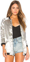 Capulet Louise Bomber in Metallic Silver. - size L (also in M,S,XS)