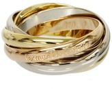 Cartier Trinity 18K Pink & White & Yellow Gold 3-Bands Ring Size 5.25