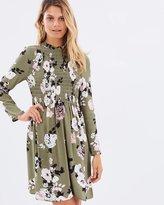 Miss Selfridge Shirred Floral Babydoll Dress