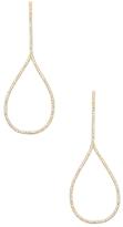 Rivka Friedman Micro Pave CZ Elongated Drop Earrings