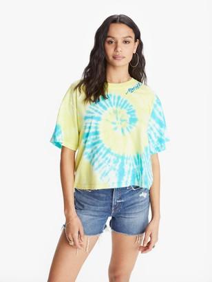 I Stole My Boyfriend's Shirt Cosmo Tie Dye MOTHER Tee - Yellow