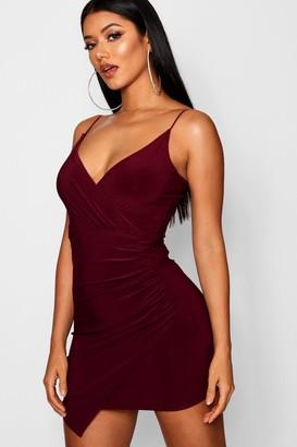 boohoo Wrap Detail Bodycon Dress