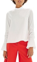 Topshop Women's Tie Sleeve Blouse