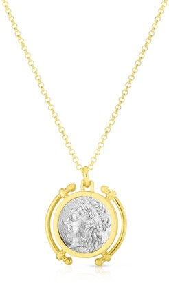 Sphera Milano 14K Gold Plated Sterling Silver Two-Tone Coin Necklace