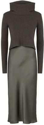 AllSaints 2-in-1 Tierny Slip-Sweater Dress