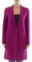Theory Women's Pink Wool Coat.