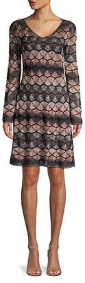 M Missoni Lurex Zigzag Crochet Dress