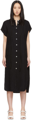 Raquel Allegra Black Gauze Duster Dress