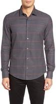 BOSS Men's Reid Trim Fit Check Sport Shirt