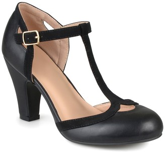 Journee Collection Olina T-Strap Pump - Wide Width