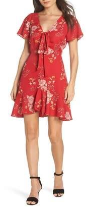 BB Dakota Hyper Bloom Printed Minidress