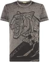Versace Jeans Large Tiger Print T-shirt