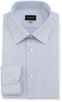 Ermenegildo Zegna Men's 100fili Micro-Check Dress Shirt