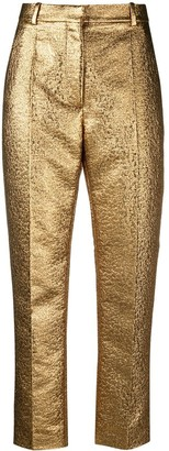 Valentino Golden Cropped Trousers