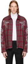 Stella McCartney Red Embroidered Plaid Jacket