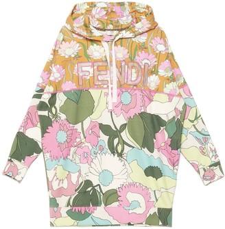 Fendi Floral Printed Hoodie