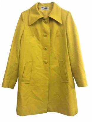 Non Signé / Unsigned Non Signe / Unsigned Yellow Trench Coat for Women Vintage