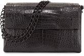 Nancy Gonzalez Large Crocodile Double-Chain Shoulder Bag, Black