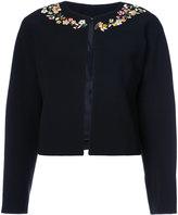 Altuzarra floral embellished cropped jacket - women - Polyester/Triacetate - 36