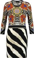 Just Cavalli Zebra-print stretch-jersey mini dress
