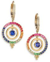 Temple St. Clair Celestial Multicolor Sapphire, Diamond & 18K Yellow Gold Piccolo Tolomeo Drop Earrings