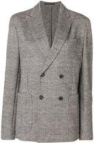 Eleventy plaid double breasted blazer - women - Cotton/Wool - 42