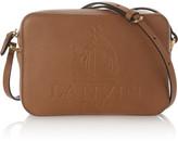 Lanvin So Embossed Textured-leather Shoulder Bag - Tan