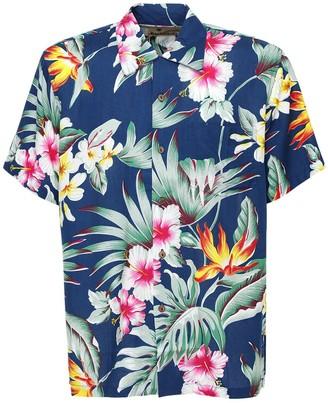 Montana Blue Printed Hawaiian Shirt