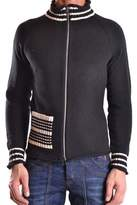 Antonio Marras Men's Black Cotton Cardigan.