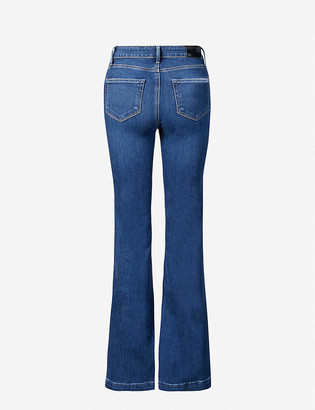 Paige Genevieve flared high-rise jeans