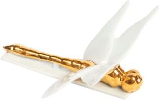 Dragonfly Envolee Porcelain Knife Holder