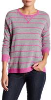Autumn Cashmere Tuck Stitch Stripe Cashmere Sweatshirt