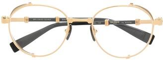 Balmain Eyewear Round-Frame Glasses