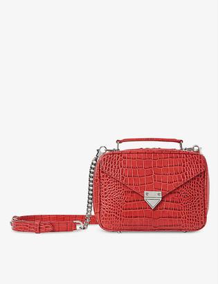 The Kooples Barbara medium croc-embossed leather cross-body bag
